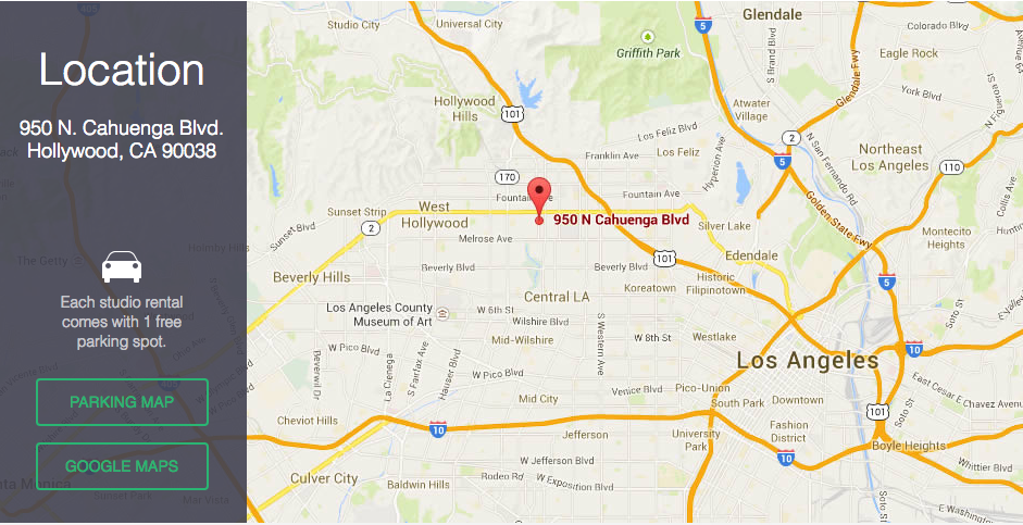 Google Map of Andrew Wood Acting Studio